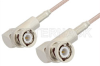 BNC Male Right Angle to BNC Male Right Angle Cable 12 Inch Length Using 75 Ohm RG179 Coax, RoHS -- PE3366LF-12 -Image
