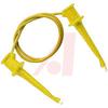 Minigrabber Test Clip Patch Cord, 36 Inch, Yellow -- 70198329