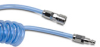 1/4in. ID Nylon reinforced Clear Blue Polyurethane Coiled Hose, 8 ft. -- HP14C10CBL-QC