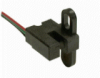 SR17 Series Cost Effective Digital Vane Sensor; side looker mounting; wire leads parallel to mounting plane; sinking output; 3.8 to 30 Vdc supply voltage -- SR17C-J7