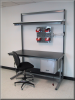 Workstation w/ Recessed Legs and Upper Shelf -- C-103P Series -- View Larger Image