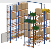Pallet shelving systems