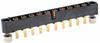 10 Pos. Male SIL Vertical Throughboard Conn. Jackscrews -- M80-5000000M3-10-332-00-000 - Image