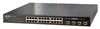 24-Port 10/100/1000Mbps 802.3at PoE+ Managed Switch w/4 Shared SFP Ports 220W