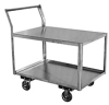 Stainless Steel 2 Shelf Low Profile Service Cart -- Model XL