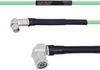 Temperature Conditioned Low Loss RA SMA Male to RA TNC Male Cable LL142 Coax in 100 cm -- FMHR0155-100CM -Image