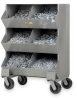 Mobile Storage Bin, 6 Compartments -- 4GVU3