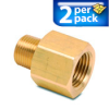Connector Air Fitting: female, brass, for 3/8in NPT to 1/2in NPT, 2/pk -- BFMFR-12N-38N -- View Larger Image
