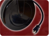 25' 14/3 SJTW 105C BLACK NACC NEMA 5-15P TO NEMA 5-15R Q-LOCK CLEAR WITH LED x 5 POWER CORD -- QL5000-25