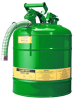 5 Gallon Type II Steel Flammable Liquid Safety Can -- CAN10828-GREEN