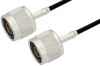 N Male to N Male Cable 24 Inch Length Using RG174 Coax -- PE36273-24 -Image