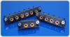 Single Row, Rack and Panel Connectors - 200 Amp Contacts - LSH Series -- LSH06