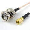 BNC Male to SMC Plug Cable RG316 Coax in 12 Inch -- FMC0818316-12 -Image
