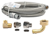 FloodSafe Stainless Steel Dishwasher Connector Kit - 3/8 in. Comp. x 3/8 in. Comp. - 48 in. Long -- FSD48