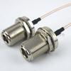 N Female Bulkhead to N Female Bulkhead Cable RG-316 Coax in 24 Inch and RoHS -- FMC1111315LF-24 -Image