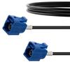 Blue FAKRA Jack to FAKRA Jack Cable 60 Inch Length Using RG174 Coax -- FMCA1350C-60 -Image