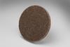 3M Scotch-Brite XL-UR Unitized Aluminum Oxide Medium Deburring Wheel - Medium Grade - Quick Change Attachment - 3 in Diameter - 17193 -- 048011-17193 - Image