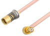 Snap-On BMA Jack to SMP Female Right Angle Cable 60 Inch Length Using RG405 Coax -- PE3C4898-60 -Image