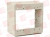 "HELLERMANN TYTON TSRPI-JBD2 ( DUAL GANG JUNCTION BOX, 2.77"" DEEP, PVC, IVORY, 1/BAG ) -Image"
