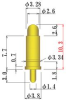 High Current Spring Probe Pins, 8Y500B Series, Sphere Type, Outer Dia. 3.8mm/0.150