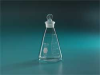 Flask,With Stopper, Glass,50 mL,PK 2 -- 8ZAU2
