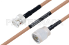 MIL-DTL-17 BNC Male to N Male Cable 24 Inch Length Using M17/128-RG400 Coax -- PE3M0058-24 -Image