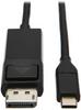 USB-C to DisplayPort Adapter Cable (M/M) - 3.1, Gen 1, Locking Connector, 4K @ 60 Hz, 4:4:4, Black, 3 ft. -- U444-003-DP-BE - Image