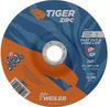 Weiler TIGER Zirconia Alumina Cutting Wheel - Type 27 - Depressed Center Wheel - 6 in Diameter - 7/8 in Center Hole - Thickness.045 in - 58022 -- 012382-58022 - Image
