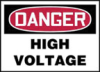 Accuform Danger High Voltage Signs -- hc-19-804-569 - Image
