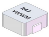 4.7uH, 20%, 175.5mOhm, 2.8Amp Max. SMD Molded Inductor -- SM1605A-4R7MHF -Image