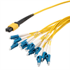 MPO w/ pins to LC fan-out, 2.0mm diameter, 24 fiber, OS2 9/125um Single Mode, OFNR Jacket, Aqua, 1 meter -- MPM24OS2-20LCR-1 -Image