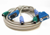 15ft 3-in-1 Universal HD15 VGA M/F + PS/2 M/M KVM Extension Cable -- CS20-15