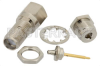 RP SMA Female Bulkhead Connector Clamp/Solder Attachment For RG178, RG196, .235 inch D Hole -- PE4861 -Image