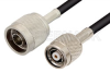N Male to Reverse Polarity TNC Male Cable 12 Inch Length Using RG223 Coax -- PE35245-12 -Image
