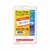 Print/Write Self-Adhesive Name Badges, 2-11/32 x 3-3/8, Red, -- 5140