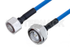 Plenum 4.1/9.5 Mini DIN Male to 7/16 DIN Male Low PIM Cable 12 Inch Length Using SPP-250-LLPL Coax , LF Solder -- PE3C4134-12 -- View Larger Image