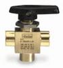 2F-MB4XPFA-BP - Parker three-way ball valve, brass, 1/8