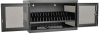 16-Device AC Charging Station Cabinet for Chromebooks and Laptops, Wall-Mount and Cart Options, Black -- CSC16AC - Image