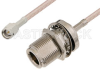 SMA Male to N Female Bulkhead Cable 18 Inch Length Using RG316-DS Coax, RoHS -- PE33929LF-18 -Image