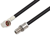 N Male Right Angle to N Female Bulkhead Cable 60 Inch Length Using RG213 Coax , LF Solder -- PE3C6624LF-60 -Image