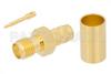 RP SMA Female Connector Crimp/Solder Attachment for PE-C240, RG8X, 0.240 inch, LMR-240, LMR-240-DB, LMR-240-UF, B7808A -- PE44665 -Image