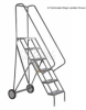 Roll And Fold Steel Ladder -- T9H432204