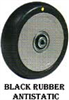 AS-ANTISTATIC Black Rubber Tire Wheels -- a82 - Image