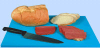 Blue Cutting Board for Cooked Food -- 60134