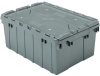 Akro-Mils Keepbox 8.5 gal 35 lb Gray Industrial Grade Polymer Attached Lid Container - 21 1/2 in Length - 15 in Width - 9 in Height - 39085 GREY -- 39085 GREY
