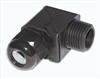 Dome-Cap™ Strain Relief Connectors -- 90° Snap Elbow Non-Metallic Dome Cap Connectors