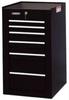 Side Cabinet,19 In,6 Dr,Black -- 5RRG6