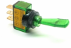 Illuminated Duckbill Toggle Switch (12v)- Green -- 70124 -- View Larger Image