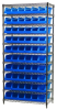 Akro-Mils 2000 lb Adjustable Blue Chrome Steel Open Adjustable Fixed Shelving System - 10 Bins - 2000 lb Total Capacity - AWS183630318 BLUE -- AWS183630318 BLUE - Image