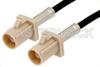 Beige FAKRA Plug to FAKRA Plug Cable 60 Inch Length Using RG174 Coax -- PE38751I-60 -Image